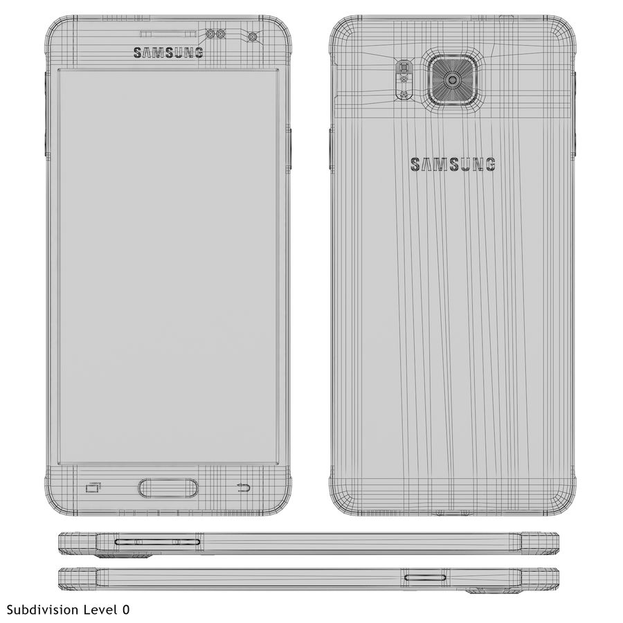 Samsung Galaxy Alpha Silver royalty-free 3d model - Preview no. 23