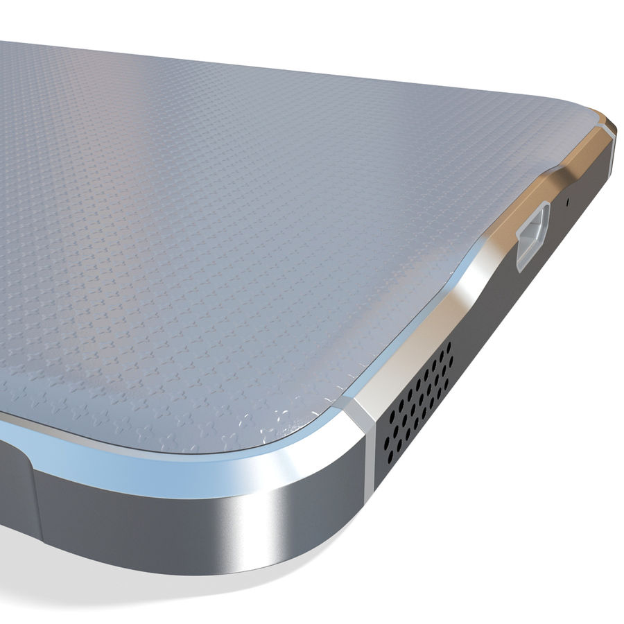 Samsung Galaxy Alpha Silver royalty-free 3d model - Preview no. 17
