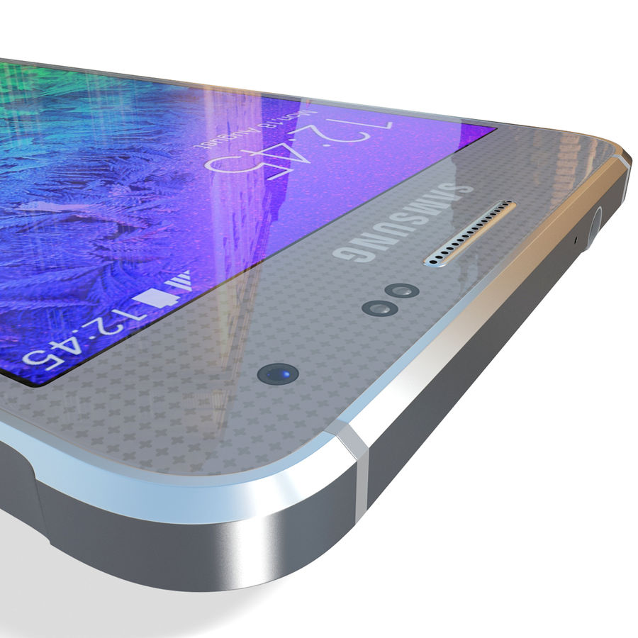 Samsung Galaxy Alpha Silver royalty-free 3d model - Preview no. 19