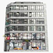 현대 건물 맥도날드 3d model