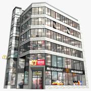Современное здание Макдональдс 3d model