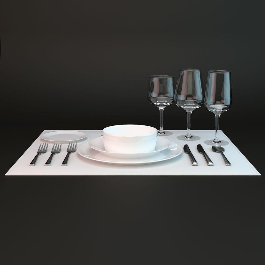 Sofra Takımı royalty-free 3d model - Preview no. 4