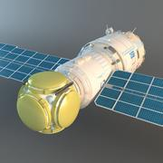 Zvezda Service Module of ISS 3d model