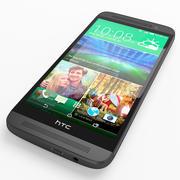 HTC One E8 Smartphone 3d model