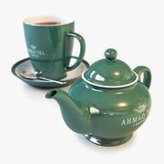 茶壶和杯子 3d model