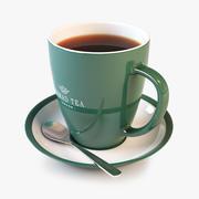 Taza de té y platillo modelo 3d