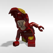 Lego Iron Man opgetuigd 3d model