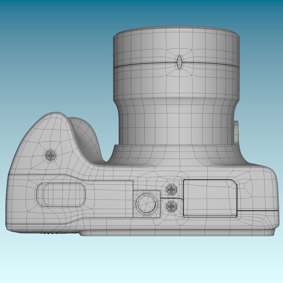 Canon SX510 royalty-free 3d model - Preview no. 14