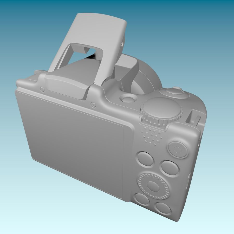 Canon SX510 royalty-free 3d model - Preview no. 11