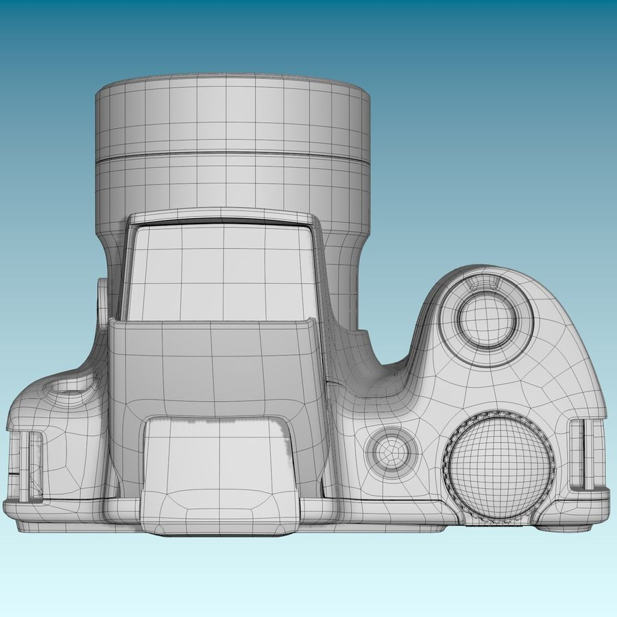 Canon SX510 royalty-free 3d model - Preview no. 10