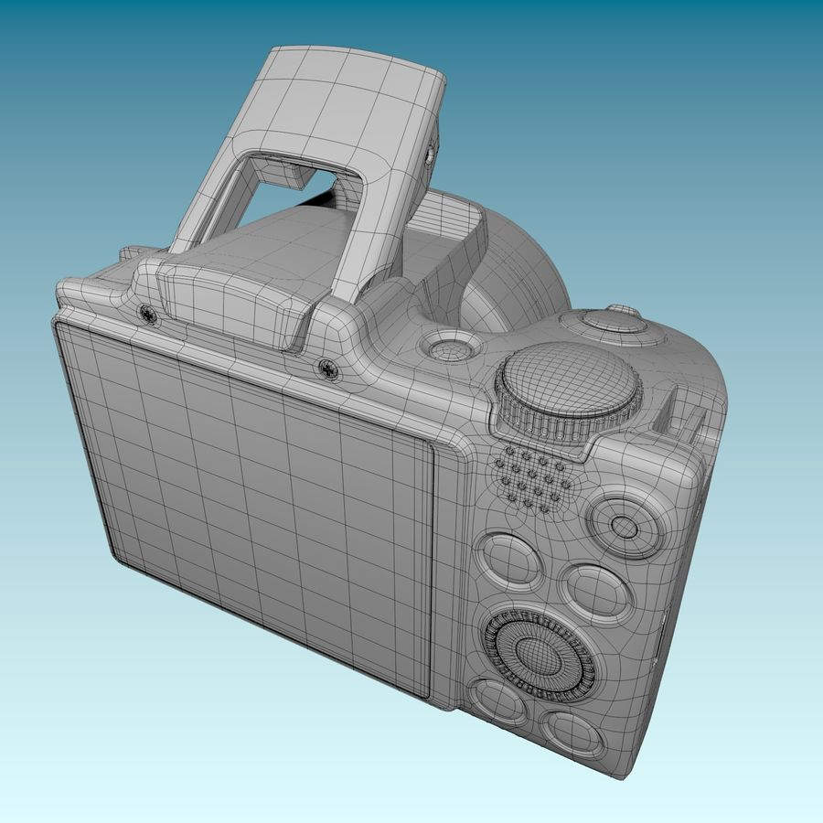 Canon SX510 royalty-free 3d model - Preview no. 12