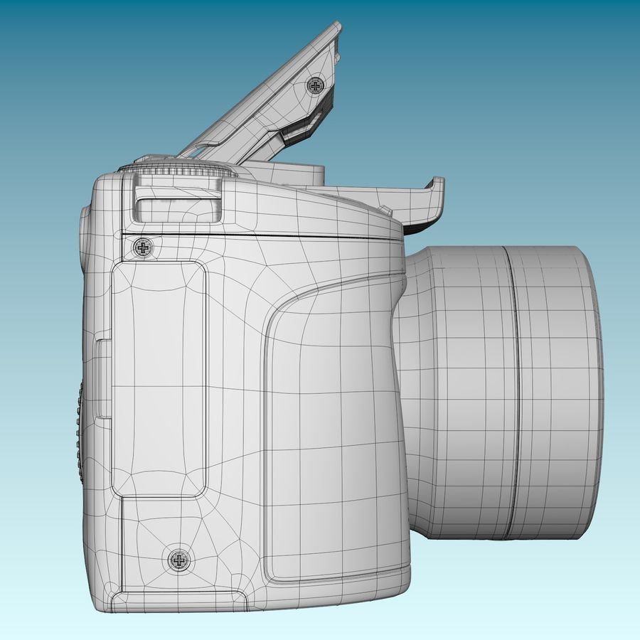 Canon SX510 royalty-free 3d model - Preview no. 8