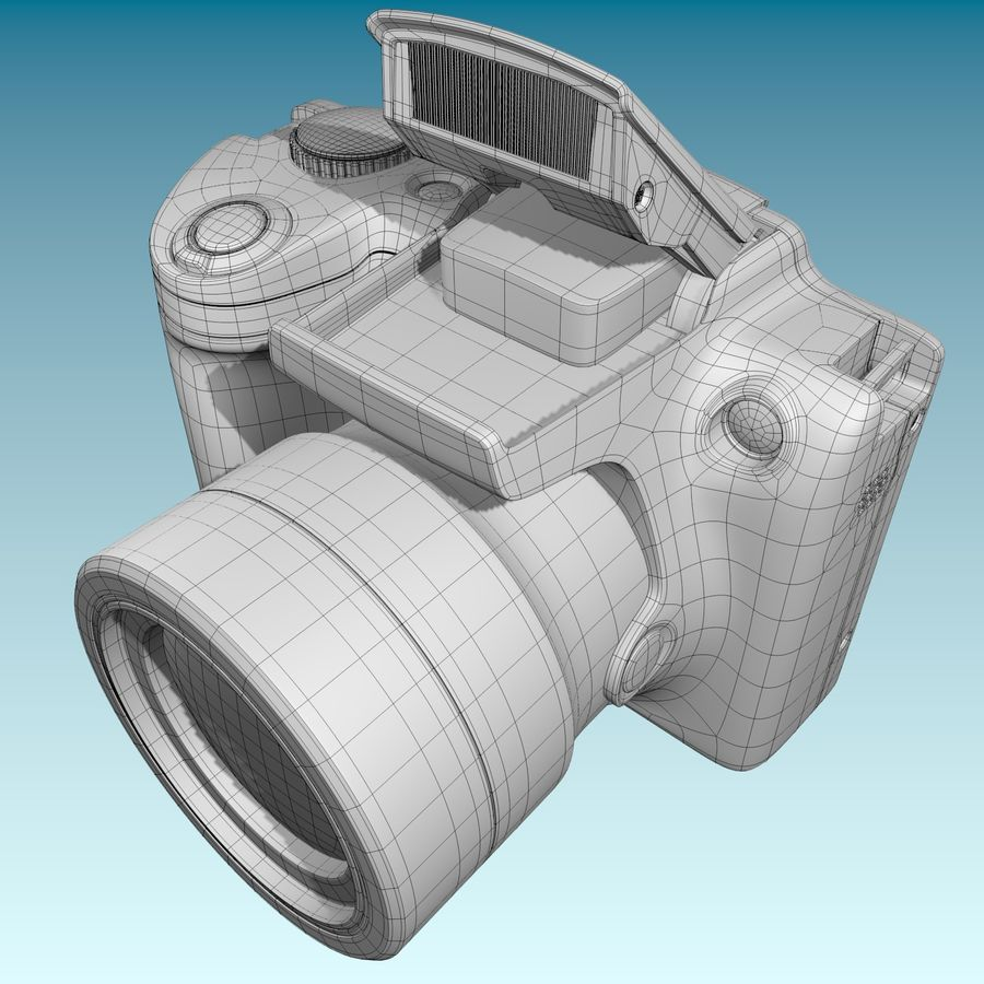 Canon SX510 royalty-free 3d model - Preview no. 16