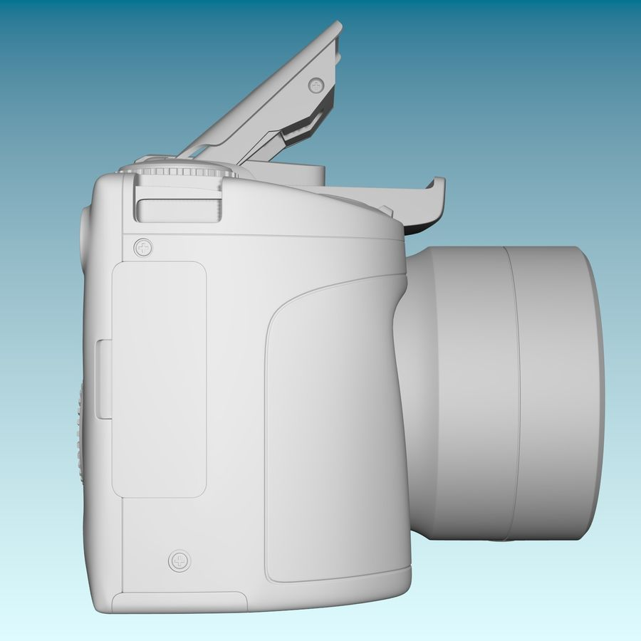 Canon SX510 royalty-free 3d model - Preview no. 7