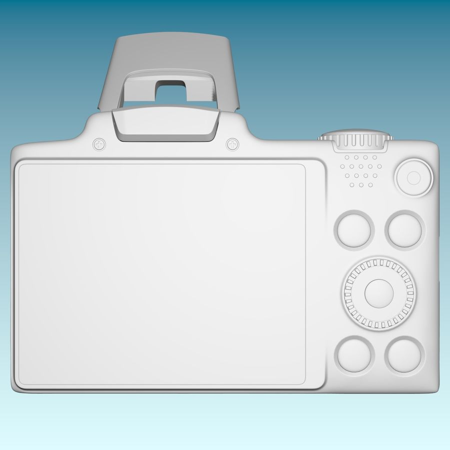 Canon SX510 royalty-free 3d model - Preview no. 5