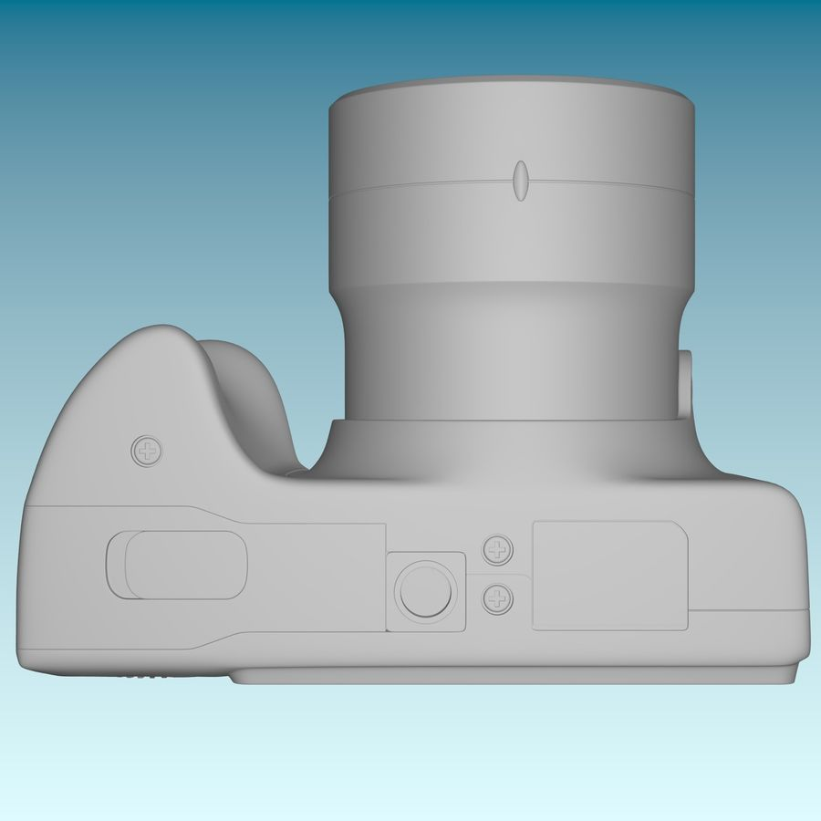 Canon SX510 royalty-free 3d model - Preview no. 13