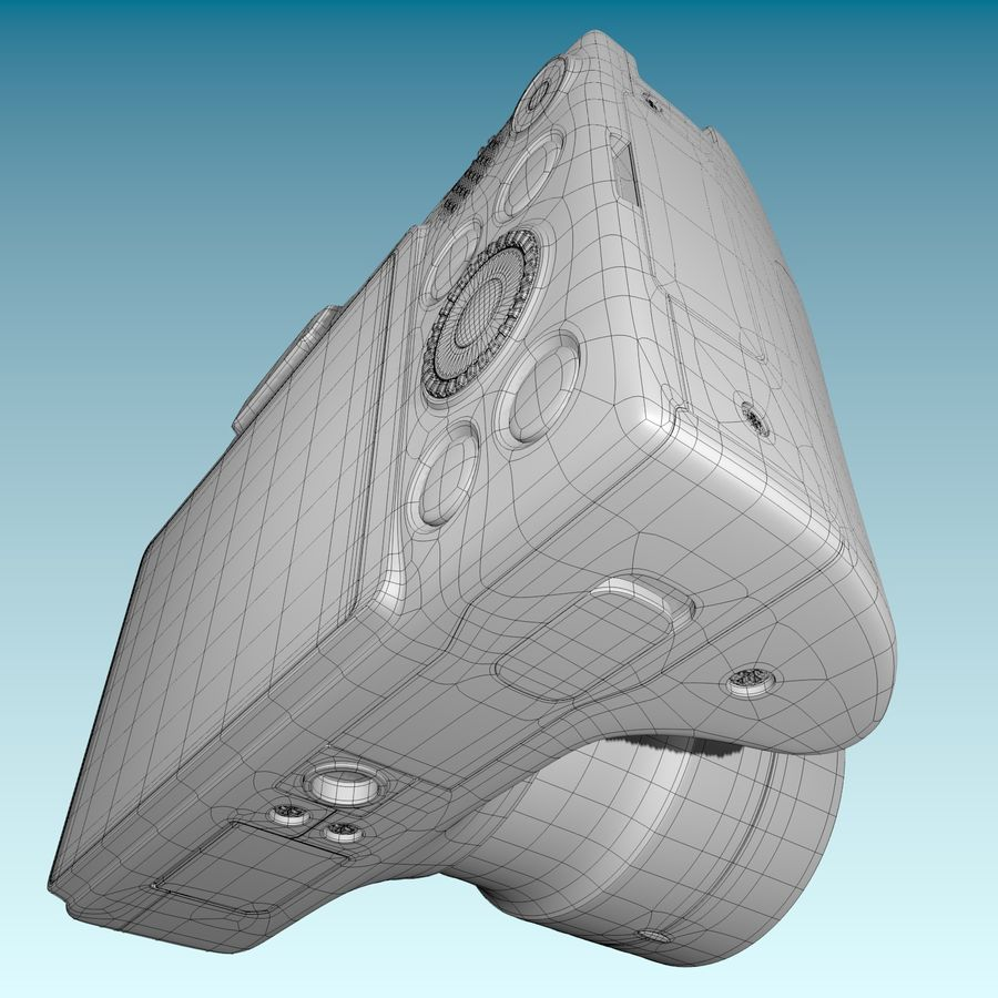 Canon SX510 royalty-free 3d model - Preview no. 18