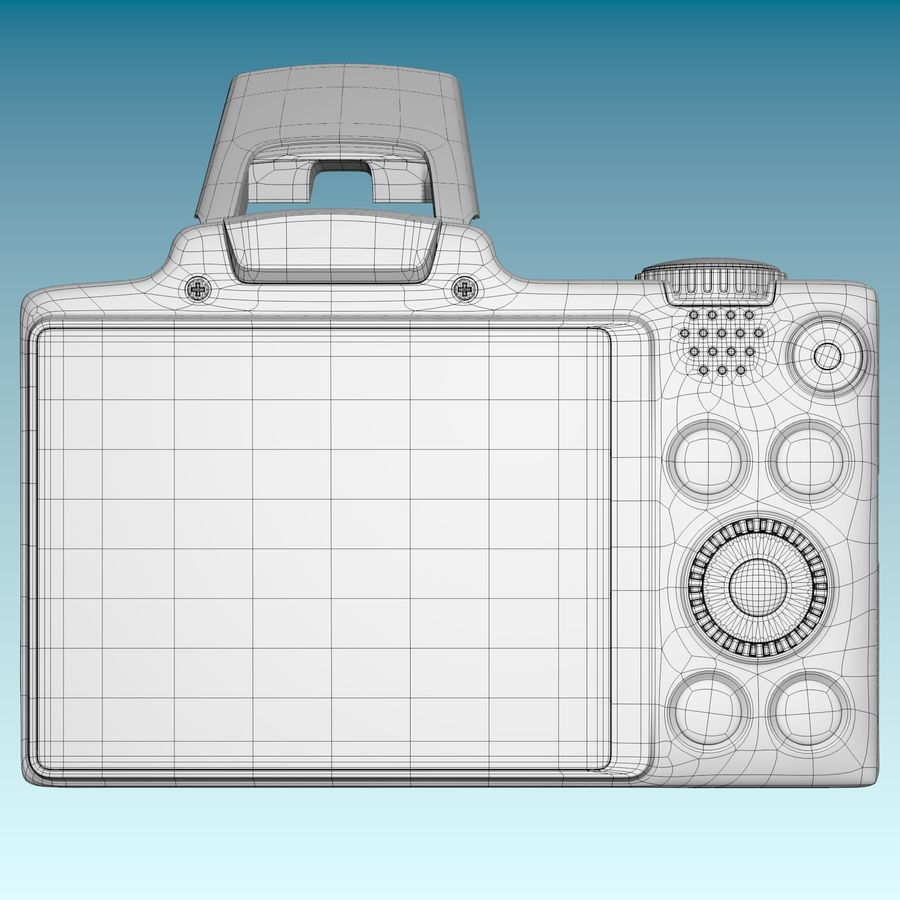 Canon SX510 royalty-free 3d model - Preview no. 6