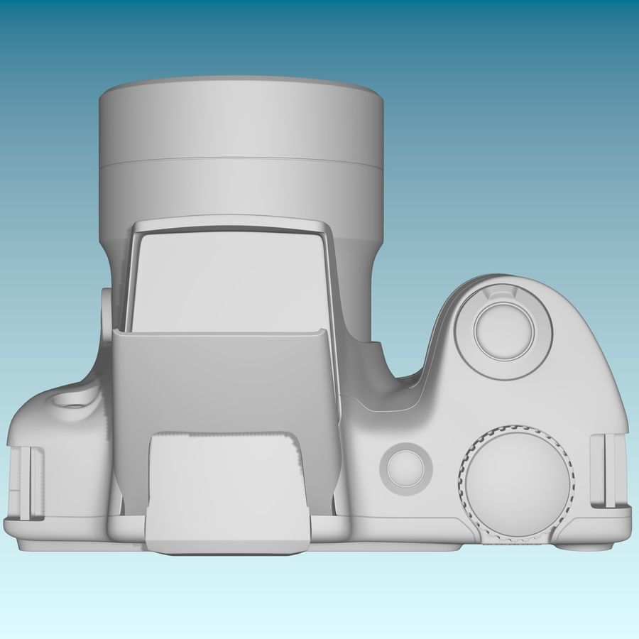 Canon SX510 royalty-free 3d model - Preview no. 9