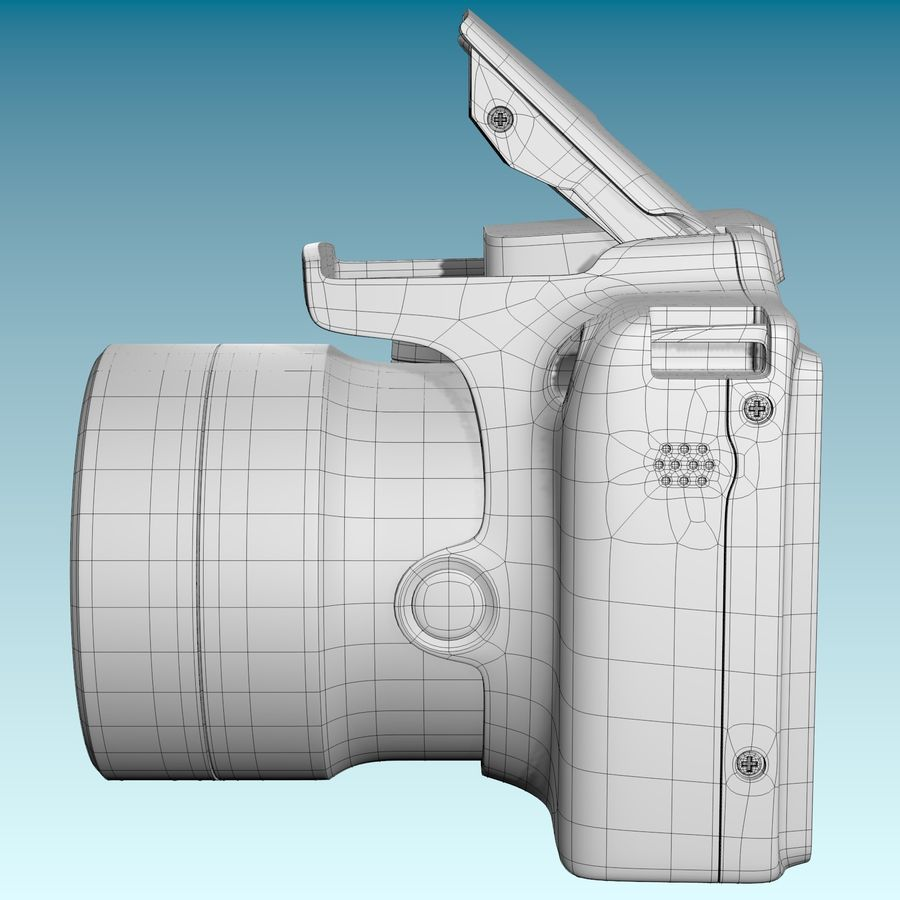 Canon SX510 royalty-free 3d model - Preview no. 4