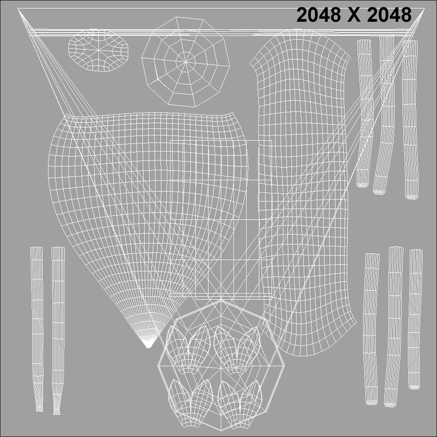 カタバミ royalty-free 3d model - Preview no. 9