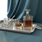 Whiskey auf einem Tablett 3d model