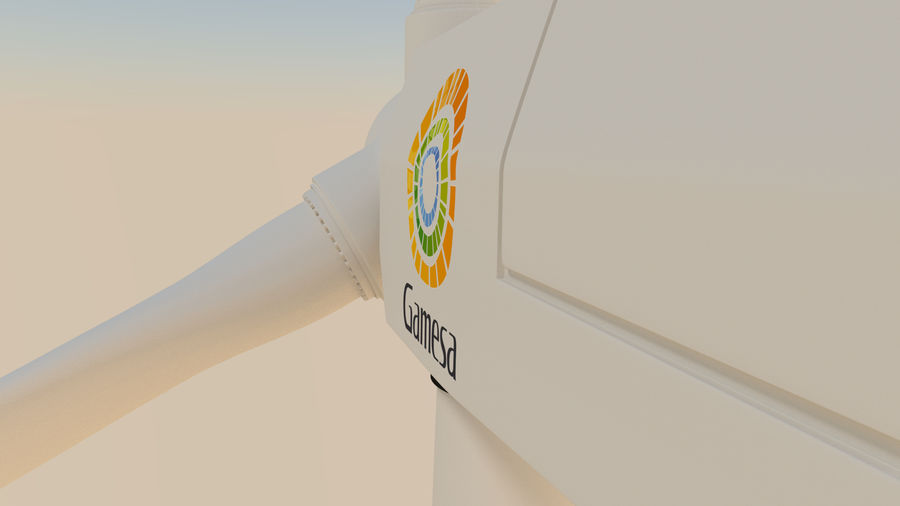 wind turbine(1) royalty-free 3d model - Preview no. 7