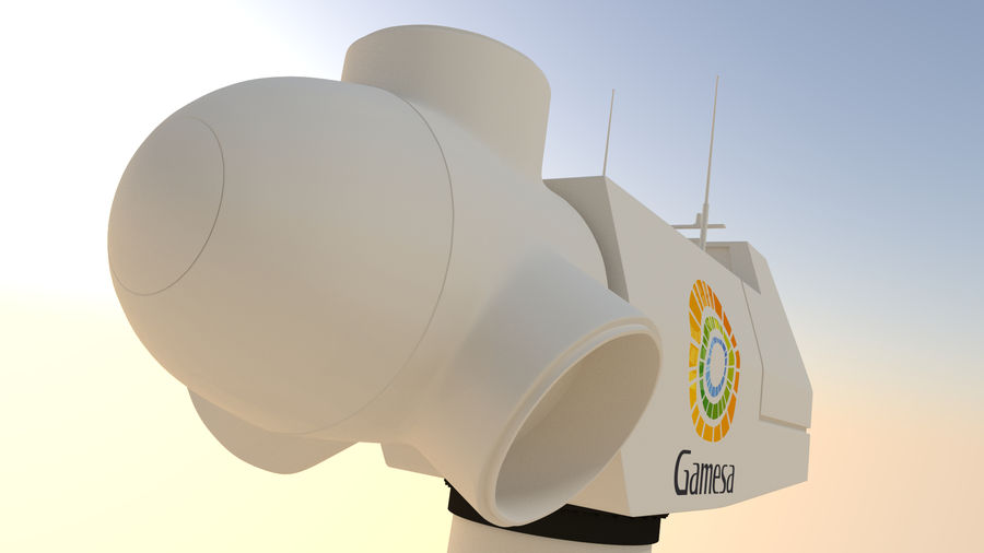 wind turbine(1) royalty-free 3d model - Preview no. 8