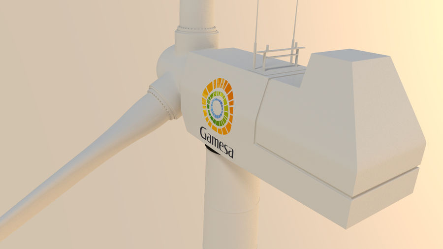 wind turbine(1) royalty-free 3d model - Preview no. 6