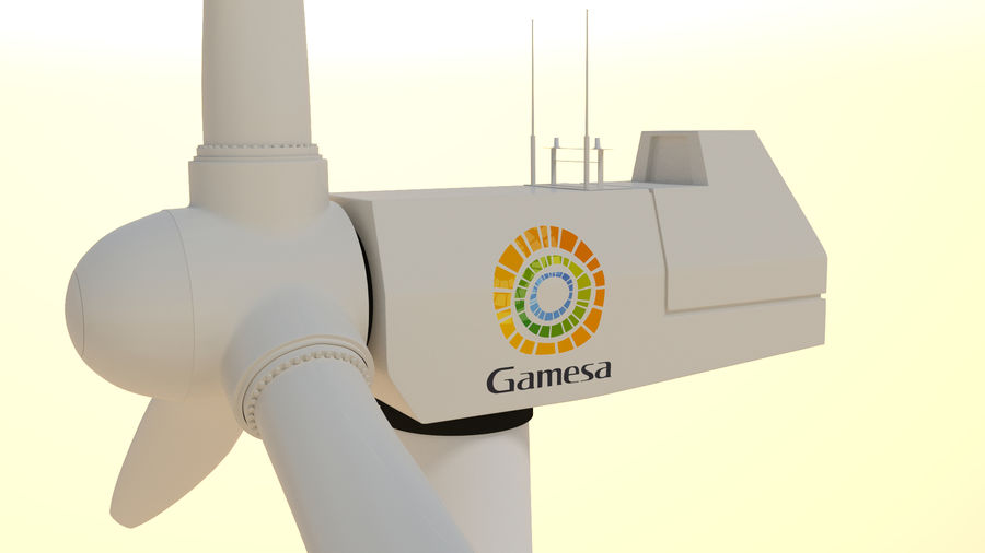 wind turbine(1) royalty-free 3d model - Preview no. 1