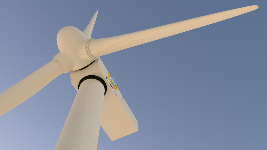 wind turbine(1) royalty-free 3d model - Preview no. 10