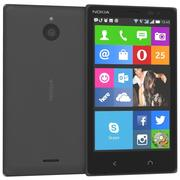 Nokia X2 Dual SIM Matt Dark Grey 3d model