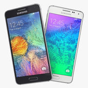 Samsung Galaxy Alpha zwart en wit 3d model