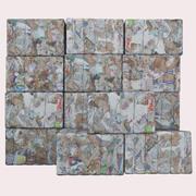 Set de residuos de papel modelo 3d
