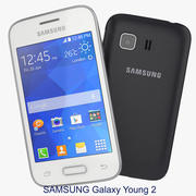 Samsung Galaxy Young 2 Black And White 3d model