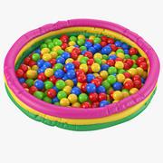 Piscina de bolas modelo 3d