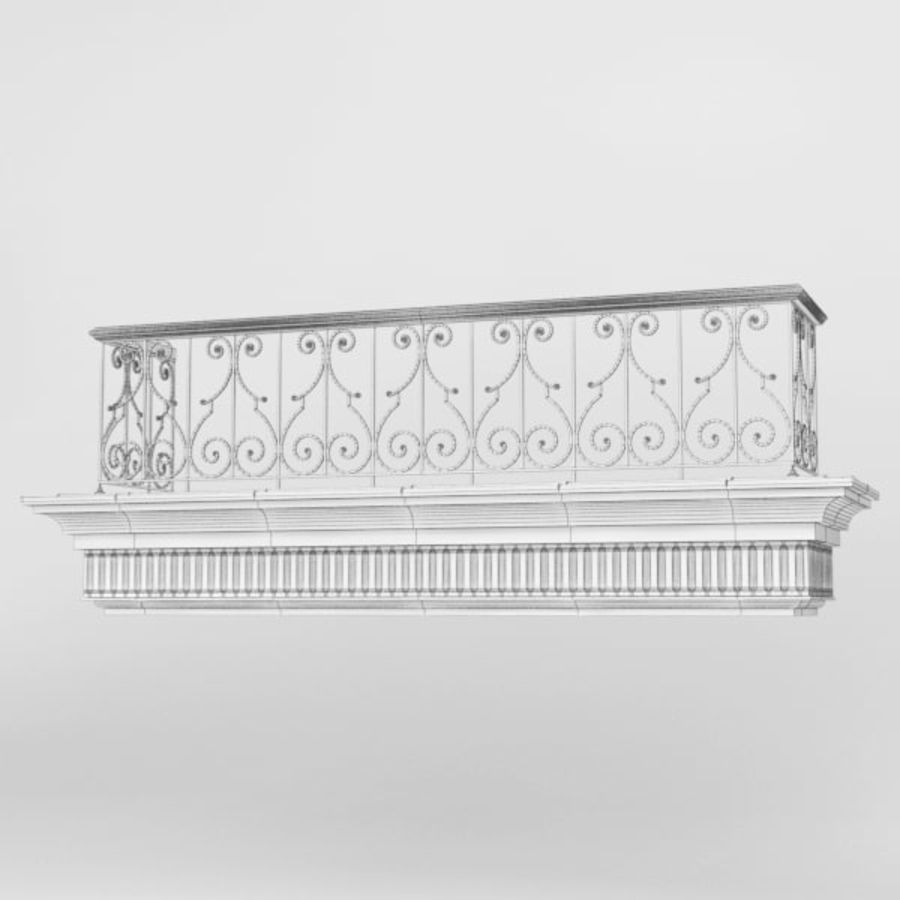 Balcony royalty-free 3d model - Preview no. 9