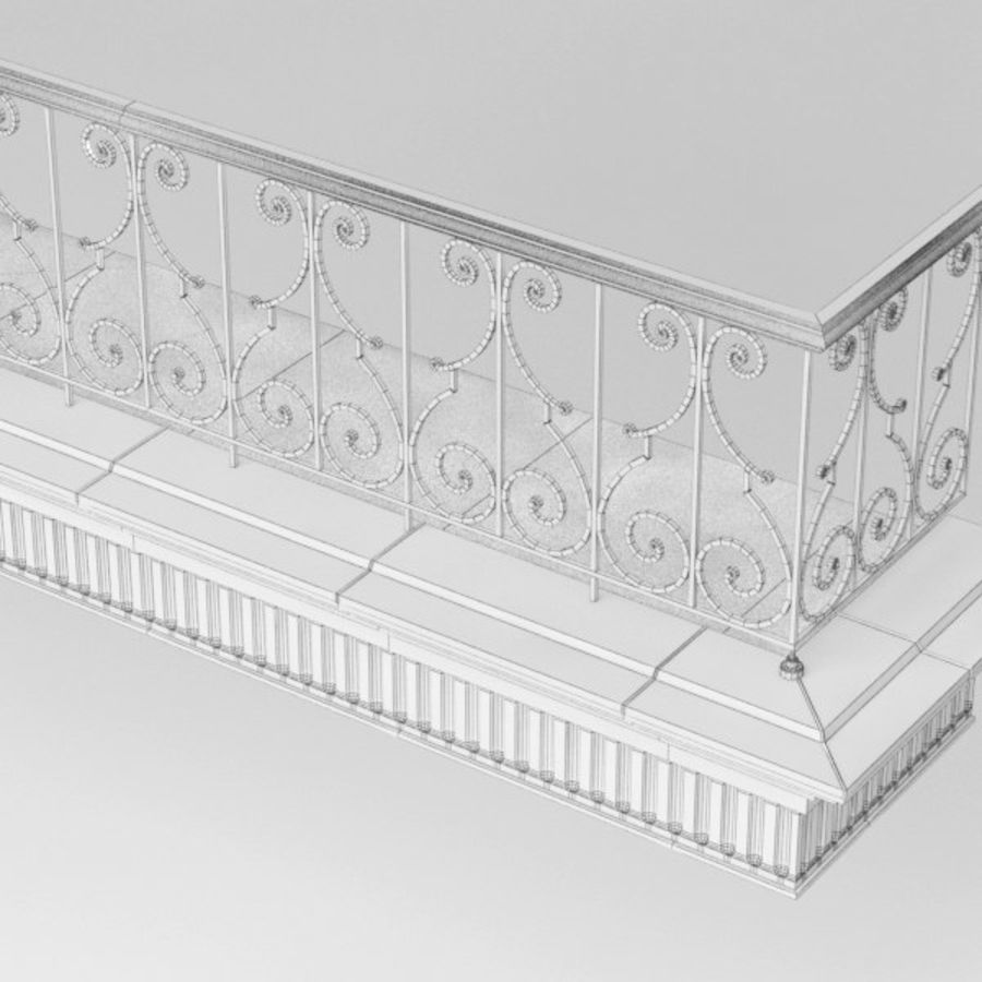 Balcony royalty-free 3d model - Preview no. 11