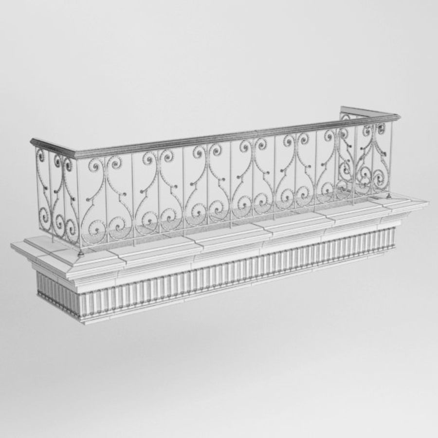 Balcony royalty-free 3d model - Preview no. 7