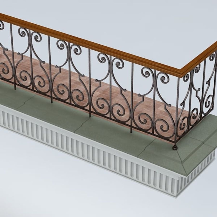 Balcony royalty-free 3d model - Preview no. 6