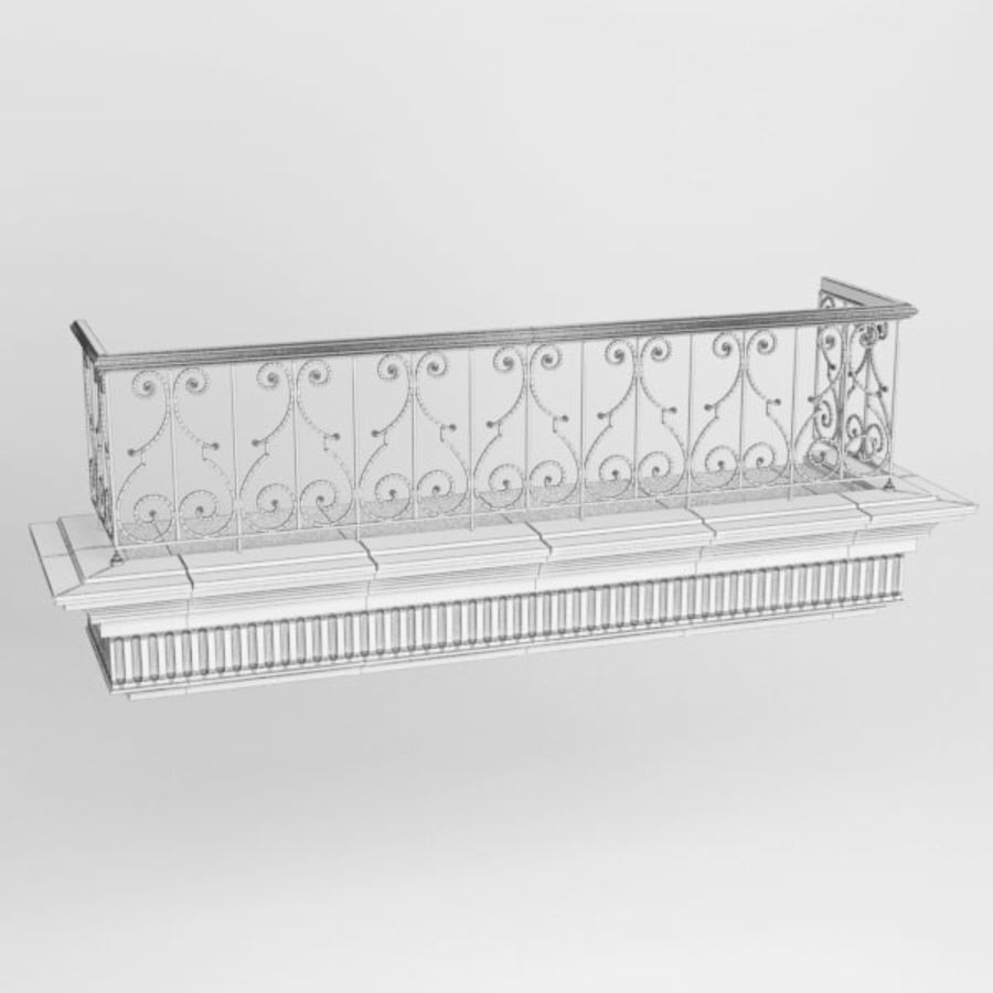 Balcony royalty-free 3d model - Preview no. 8
