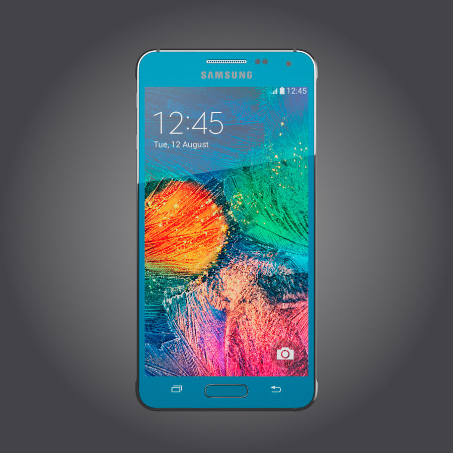 Samsung Galaxy Alpha royalty-free 3d model - Preview no. 11