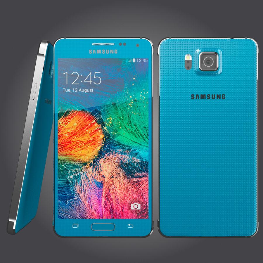 Samsung Galaxy Alpha royalty-free 3d model - Preview no. 4