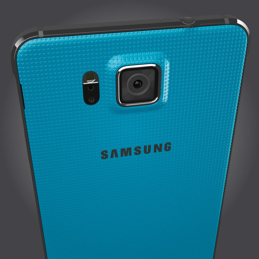 Samsung Galaxy Alpha royalty-free 3d model - Preview no. 9