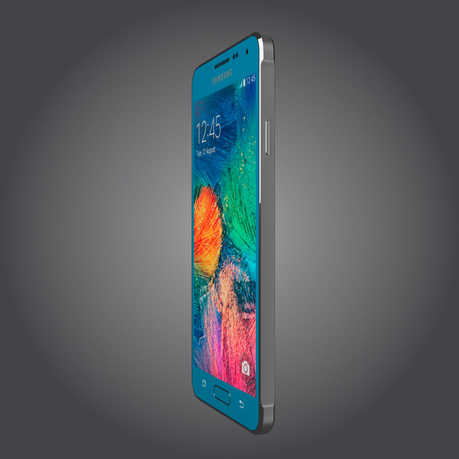 Samsung Galaxy Alpha royalty-free 3d model - Preview no. 24