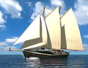 Caribbean Schooner 3d model
