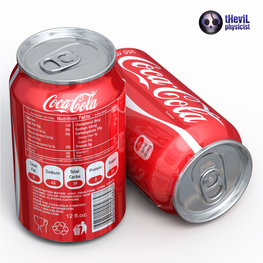 Coca cola royalty-free 3d model - Preview no. 5