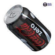 Coca Cola Zero 3d model
