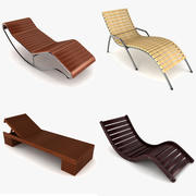 Sun Lounger Collection 3d model