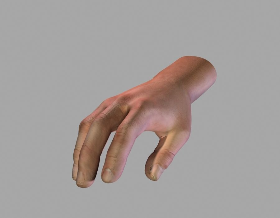 Hand opgetuigd royalty-free 3d model - Preview no. 6